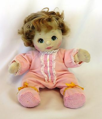 """1980's MATTEL 14"""" Fully Jointed Soft Sculpture MY CHILD Doll: Blonde, Green Eyes"""