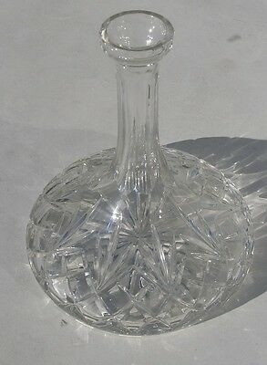 Vintage Captains / Ship / Nautical Cut Crystal Glass Decanter No Stopper
