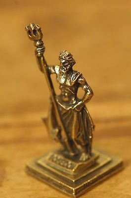 Poseidon - Ancient Greek Olympian God of the Seas Miniature Statue made of Zamac