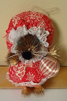 Vintage Handmade Mouse Christmas Ornament