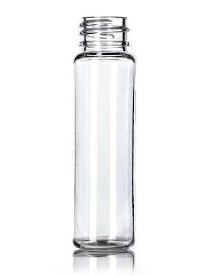 1 oz (30 ml) CLEAR Plastic Cylinder Round (SLIM) Bottles w/Caps (Lot of 50)
