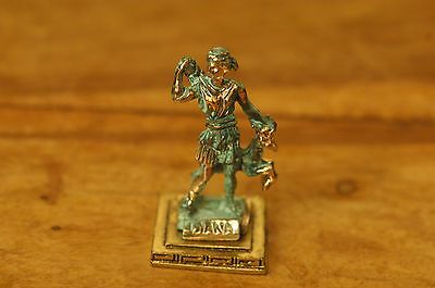 Artemis or Diana - Ancient Greek Olympian Goddess Miniature Statue made of Zamac