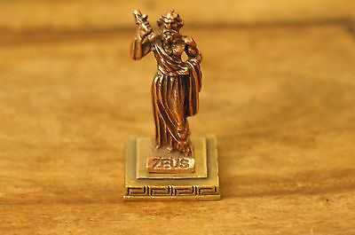 Zeus or Dias - Ancient Greek Olympian God Miniature Statue made of Zamac