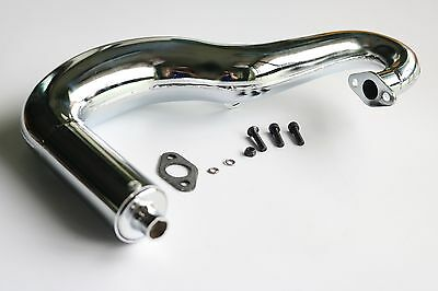 Chrome Tuned Exhaust Pipe Fit 1/6 FG 2WD/4WD Marder Baja Monster Carson Attack
