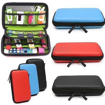 Waterproof Travel Carrying Storage Case Pouch Bag USB Flash Drive Organizer