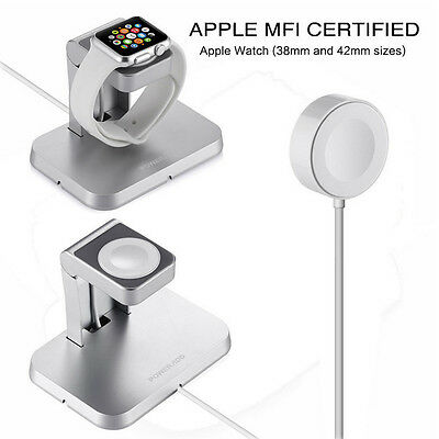 New Magnetic Charger Charging Cable & Stand For Apple Watch iWatch 38mm 42mm US