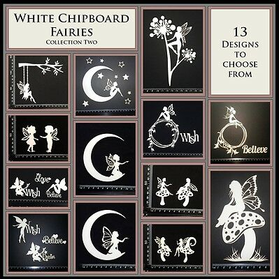 White Chipboard - Fairies Collection Two