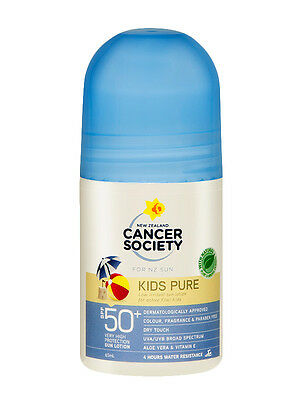 New Cancer Society Kids Roll On Suncreen SPF 50 65mL Ships to NZ Only