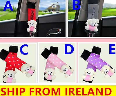 Car Belt Pads Pad Safety Seat Shoulder Strap Cover Cushion baby child bear cute