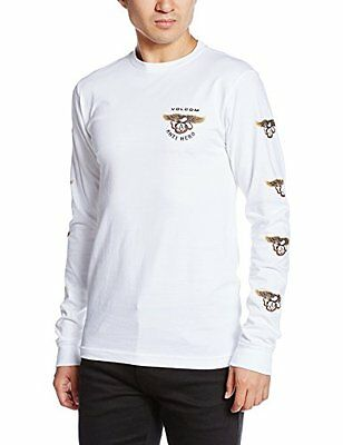 Volcom Anti Long L/S Tee, Color: White, Size: M