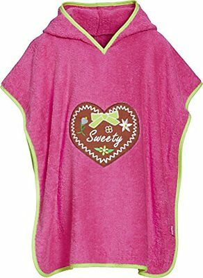 Playshoes Frottee-Poncho, Badeponcho Sweety Mit Kapuze, Accappatoio Bambina, Ros