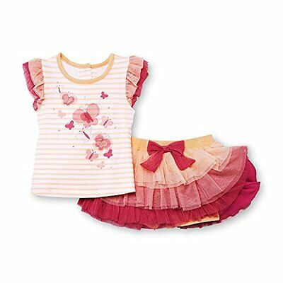 Wonder Kids Baby Outfit farfalla T-Shirt + tutù gonna + Leggings corto pantalonc