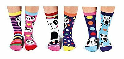United Oddsocks - Box 6 dispari calzini per le ragazze - Pandamonium