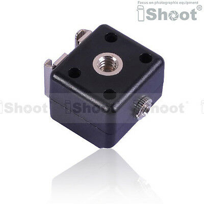 Universal Dual-Hot Shoe Mount Adapter Flash Trigger for Canon Nikon Metz Olympus