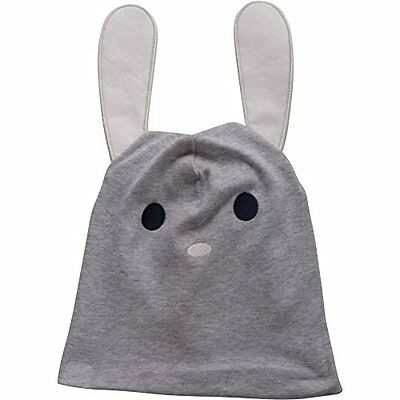 Fred's World by Green Cotton Bunny Beanie, Cappellopello Bambina, Grigio (Pale G