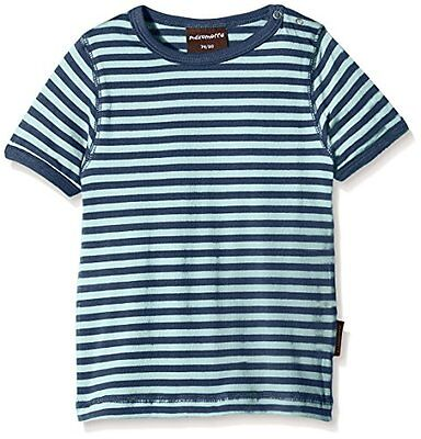 Maxomorra - BASI-M145 Top SS Striped, T-Shirt unisex bimbi, Multicoloured/Blue,