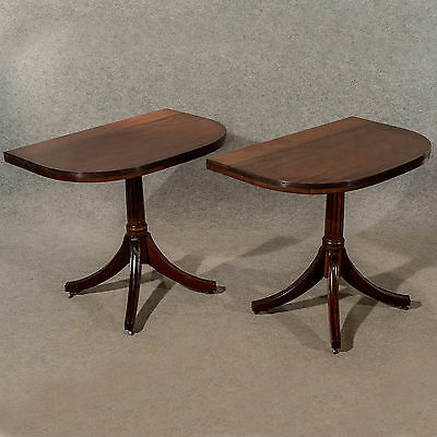 Antique D-End Extending Dining Table Pair of Demi-Lunes Georgian Mahogany c1800