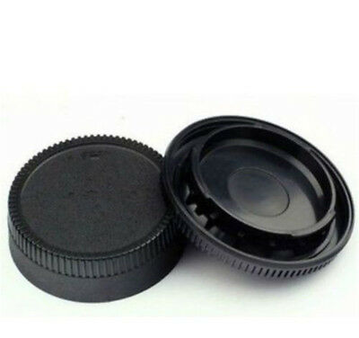 Body Front + Rear Lens Cap Cover For Nikon AF AF-S Lens DSLR SLR Camera black CN