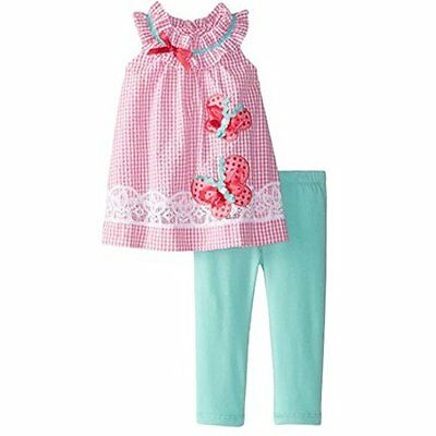 Rare Editions bambini Baby girl ragazze estate Outfit Top + Leggings pantaloni a