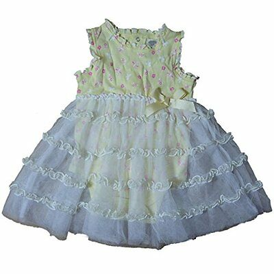 Baby Gear estate Body con tutù Tulle Rock Bambina Vestito giallo 80 • EUR 7,00