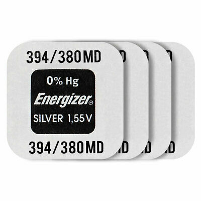 4 x Energizer Silver Oxide 394 380 batteries 1.55V SR45 SR936SW Watch EXP:2020