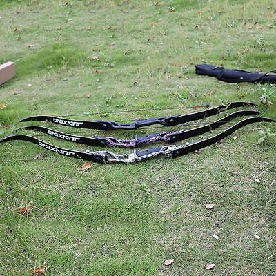 """Archery Take Down Bow Hunting Practice Right Handed 56"""" Longbow Shooting Games"""
