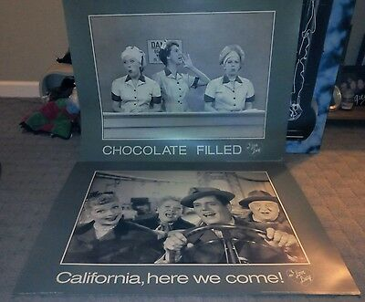 I Love Lucy Posters (Vg) Lucille Ball Ricky Ethel Vintage Image Masters Oop Rare