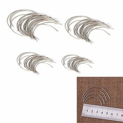 25pcs 4 Size Curved Mattress Needles Hand Sewing Needle for Upholstery Household