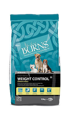 Burns Weight Control + Chicken & Oats 15kg - For Overweight or Diabetic Dogs