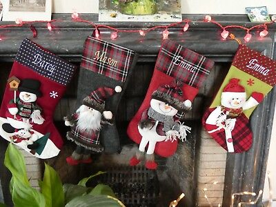 Luxury Personalised 3D Christmas Stockings - Free Embroidered Name - Promo Week