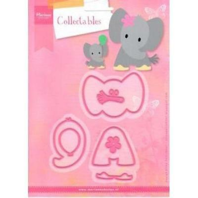 marianne design collectables die set  ELINES  elephant jumbo COL1384