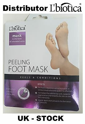L'biotica Lbiotica Exfoliating Peel Feet 40ml 1 pair Sock Type Mask - L biotica