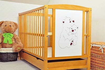 Baby Cot With Drawer 3 Colors / Baby Bed/ Cot For Baby / 3 Different Mattress