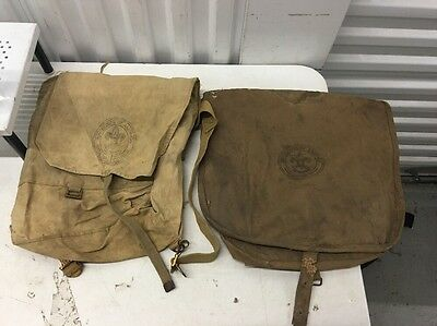 Lot Of 2 Vintage Boy Scout Bags , 1225 Day Hike Bag