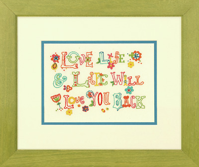 Dimensions Love Life Embroidery Kit