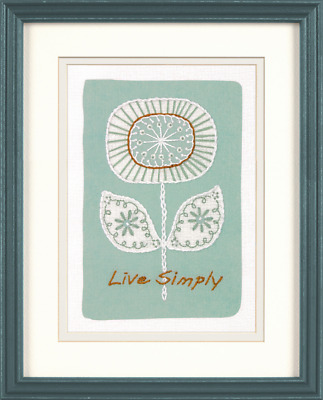 Dimensions Live Simply Embroidery Kit