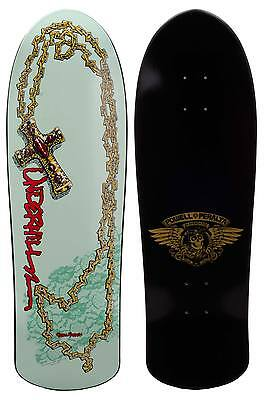 Powell skate board plateau old school Peralta Ray Underhill Cross Mint Red