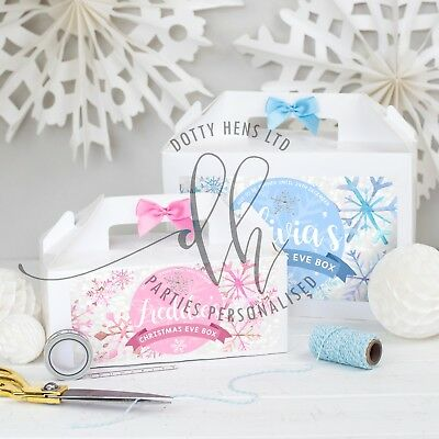 Personalised Christmas Eve Box    Snowfrost   White Party Gift Boxes