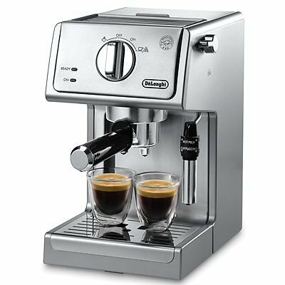 DeLonghi Espresso/Cappuccino Maker, Pump - Stainless Steel