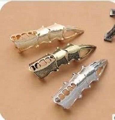 Vintage Punk Rock Retro Full Finger Joint Armor Knuckle Gothic Ring