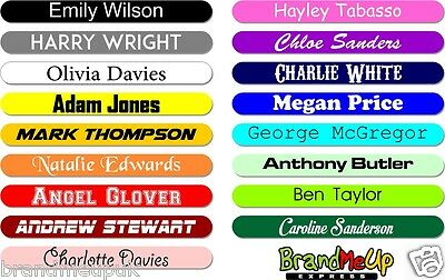 100 + 2 Free x Personalised Stickers Name Labels Stick On Tags School Kids
