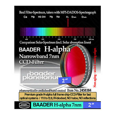 "Baader 2"" Narrowband H-Alpha Filter (7nm)  # FHALN-2 # 2458384"