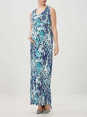 Mamalicious Maternity Blue Print 'evelyn' Maxi Dress All Sizes Bnwt Rrp £48