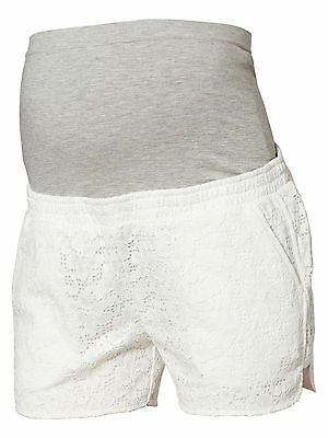 Mamalicious Maternity 'mlsica' White Lace Front Shorts All Sizes Bnwt Rrp £35