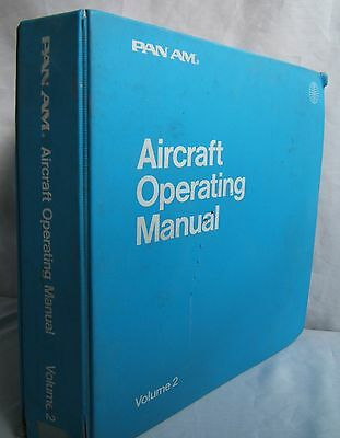 Pan Am 747 Aircraft Operating Manual Vol 2 Illustrated & Annoted Airline