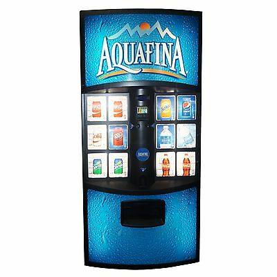 Dixie Narco 600E 12 Select Big Button Soda Vending Machine w/ Electronic Lock