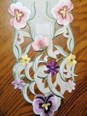 60 inch Pansy Patch Table Runner