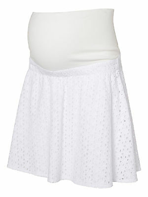 Mamalicious Maternity 'mlliv' Short White Lace Woven Skirt All Sizes Bnwt £38