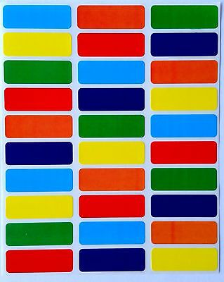 Rectangular Stickers Color Coding Labels 6 Colors Ideal For Bottles 360 Pack