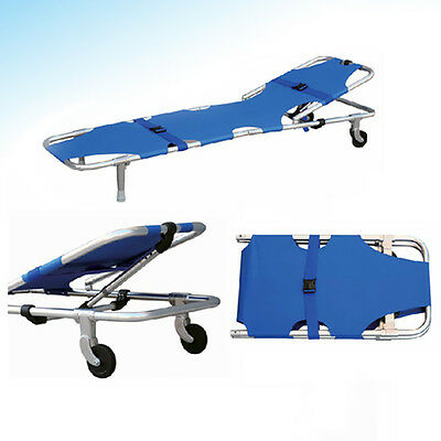 Foldable Medical Ambulance Emergency Rescue Patient Stretcher With Backrest